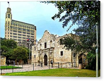 Canvas Print featuring the photograph The Alamo by Ricardo J Ruiz de Porras