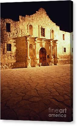 Historic Battle Site Canvas Print - The Alamo by Van D. Bucher