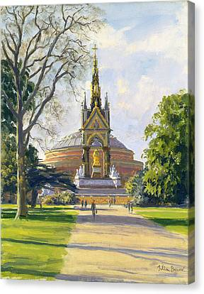 The Albert Memorial Oil On Canvas Canvas Print by Julian Barrow