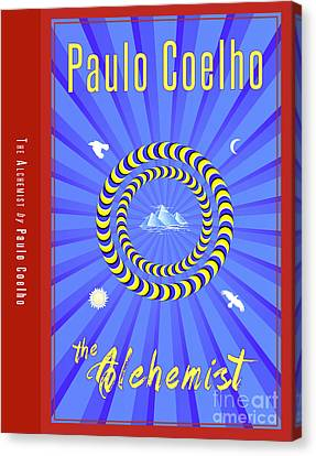 The Alchemist Book Cover Poster Art 1 Canvas Print by Nishanth Gopinathan