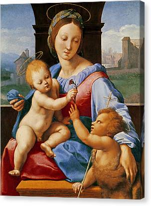 The Aldobrandini Madonna Or The Garvagh Madonna Canvas Print by Raphael
