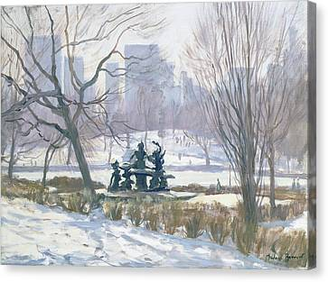 The Alice In Wonderland Statue, Central Park, New York Canvas Print by Julian Barrow