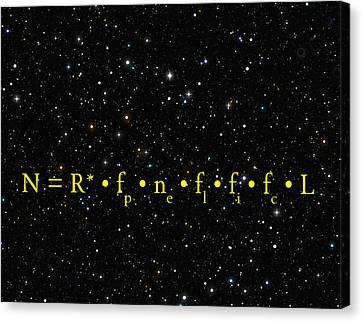 The Alien Equation - Scientific Estimate Of Techno Alien Civilizations Canvas Print