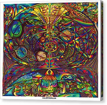 the Alignment Canvas Print by diNo