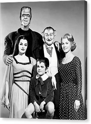 The All American Munsters Family Canvas Print by Daniel Hagerman