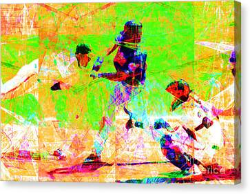 The All American Pastime 20140501 Canvas Print by Wingsdomain Art and Photography