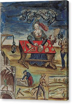 The Allegory Of Geometry, 16th Century Canvas Print by Science Source