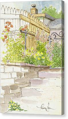 The Alley Stairway Canvas Print by Tracie Thompson