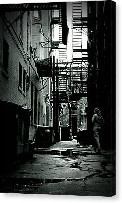 Fire Escape Canvas Print - The Alleyway by Michelle Calkins