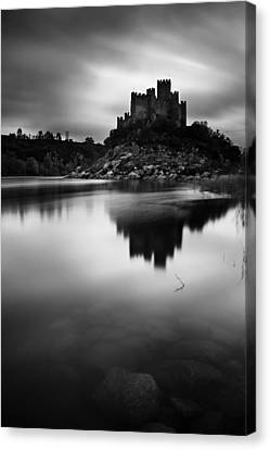 The Almourol Castle Canvas Print by Jorge Maia