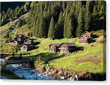 The Alp Schild Alm In East Tyrol Canvas Print by Martin Zwick