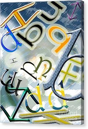 The Alphabetics Canvas Print
