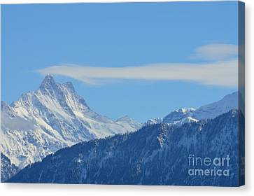The Alps In Azure Canvas Print by Felicia Tica