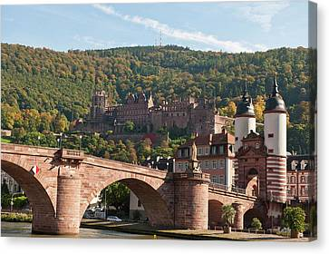 The Alte Brucke Or Old Bridge Canvas Print by Michael Defreitas