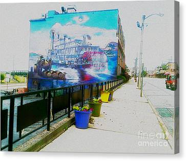 the Alton Belle in Fresco Canvas Print