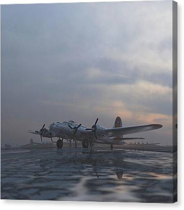The Aluminum Overcast Canvas Print by Hangar B Productions