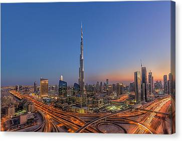 Sightseeing Canvas Print - The Amazing Burj Khalifah by Mohammad Rustam