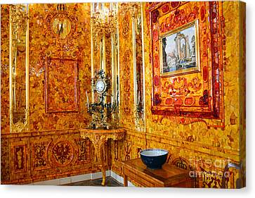 The Amber Room At Catherine Palace Canvas Print