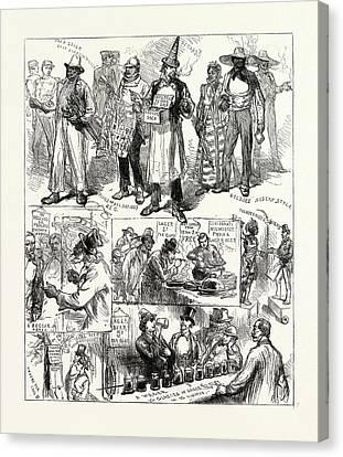 Philadelphia History Canvas Print - The American Centenary Festival Sketches In Philadelphia by American School