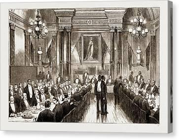 1876 Canvas Print - The American Centennial Exhibition, 1876 Banquet Given by Litz Collection