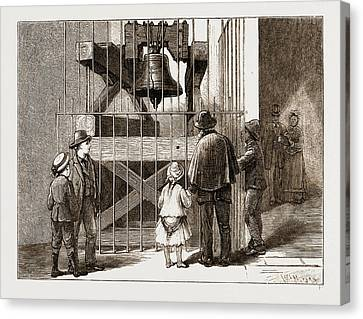 The American Centennial Exhibition, 1876 Liberty Bell Canvas Print by Litz Collection