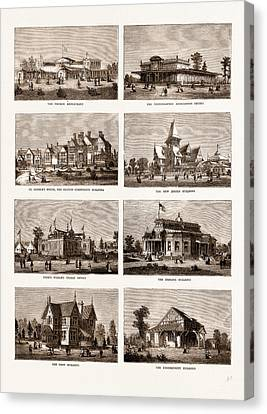 The American Centennial Exhibition Buildings In The Grounds Canvas Print by Litz Collection