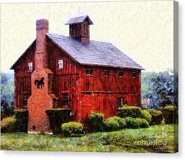 The American Dream Red Barn Canvas Print by Janine Riley