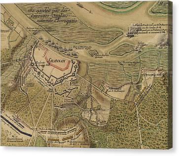 The American Revolution. Siege Canvas Print