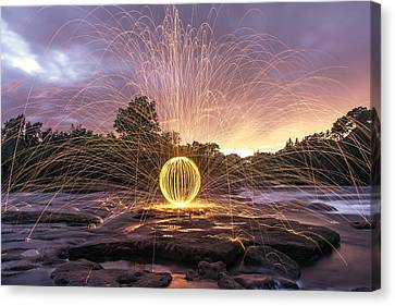 The American River Orb Canvas Print by Lee Harland