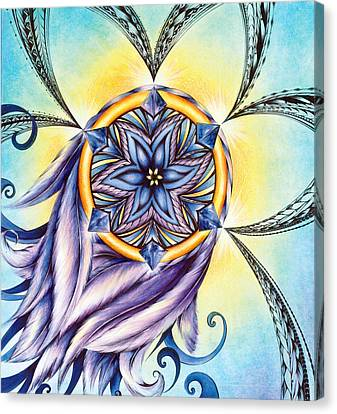 The Amethyst Of Time Canvas Print by Andrea Carroll