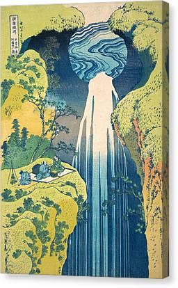 The Amida Falls In The Far Reaches Of The Kisokaido Road Canvas Print by Katsushika Hokusai