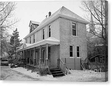the ananda arthouse in the former st josephs rectory in Forget Saskatchewan Canada Canvas Print by Joe Fox