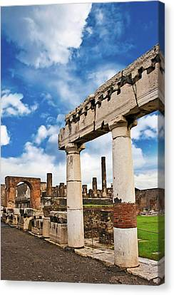 The Ancient Ruins Of Pompeii, Italy Canvas Print by Miva Stock