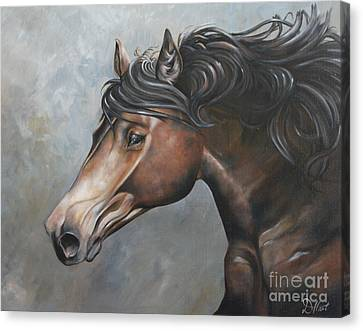 The Andalusian Canvas Print by Debbie Hart