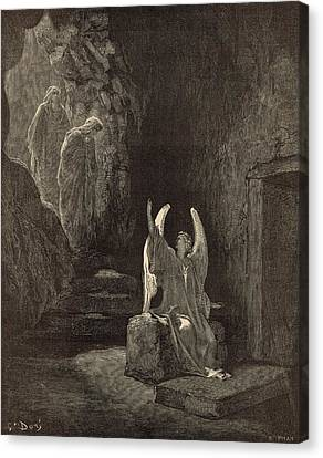 The Angel At The Sepulchre Canvas Print by Antique Engravings