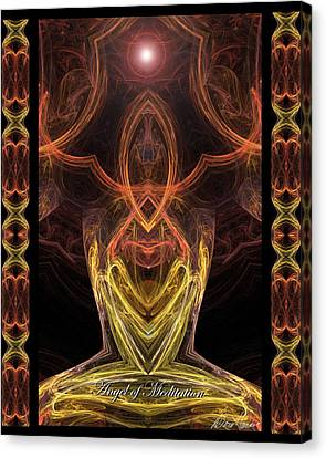 The Angel Of Meditation Canvas Print