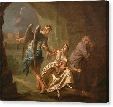 The Angel Of Mercy, Joseph Highmore, 1692-1780 Canvas Print by Litz Collection