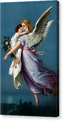 The Angel Of Peace For I Phone Canvas Print by Terry Reynoldson
