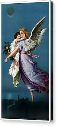 The Angel Of Peace Canvas Print by Terry Reynoldson