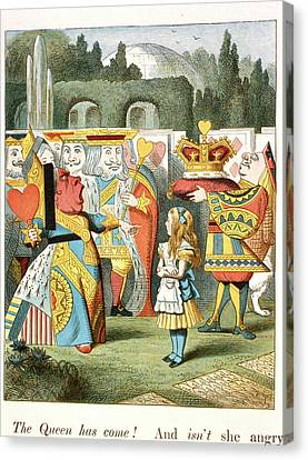 The Angry Queen. The Queen Of Hearts. Canvas Print by British Library