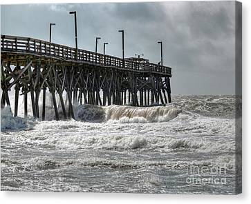 The Angry Sea Canvas Print by Kathy Baccari