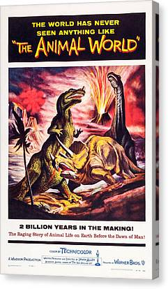 1956 Movies Canvas Print - The Animal World, Us Poster, 1956 by Everett