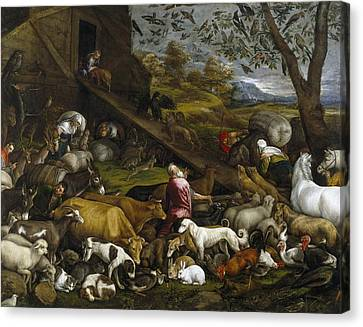 The Animals Entering Noah's Ark Canvas Print
