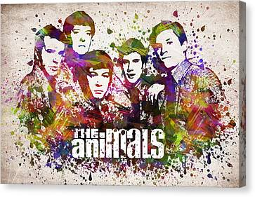 The Animals In Color Canvas Print by Aged Pixel