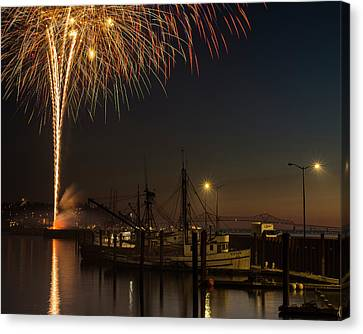 The Annual July Fourth Fireworks Canvas Print by Robert L. Potts