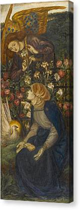 The Annunciation, 1861 Canvas Print by Dante Gabriel Charles Rossetti