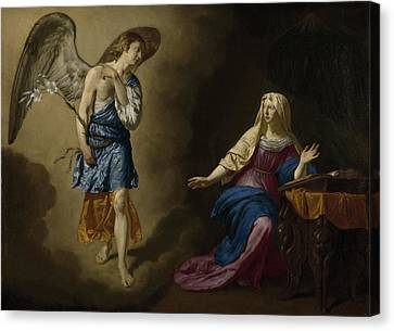 The Annunciation, Adriaen Van De Velde Canvas Print by Litz Collection