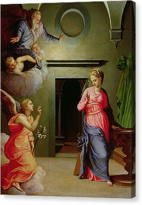 The Annunciation Canvas Print by Agnolo Bronzino
