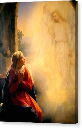 The Annunciation Canvas Print by Carl Bloch