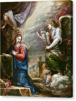 The Annunciation Canvas Print by Francisco Rizi
